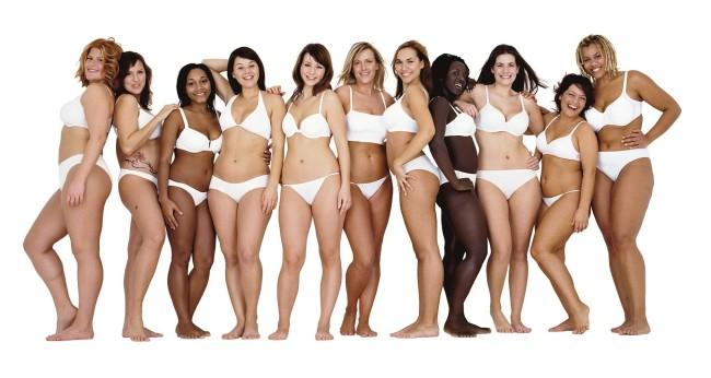 naturalne kobiety o różnych kształtach ciała